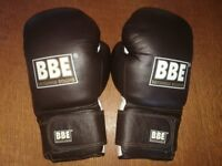 BBE classic leather coach sparring gloves. Unused