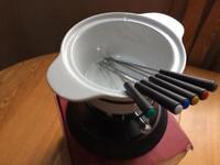 Cheese or chocolate fondue set