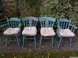 Shabby chic distressed chairs