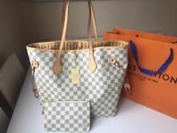 Louis Vuitton Neverfull Bag Designer Womens Handbag Purse Pouch Clutch Wallet Travel Bag holiday