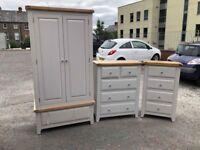 Ex-display/Slight seconds Beautiful grey and oak bedroom furniture
