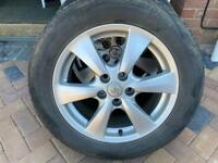 Toyota genuine alloy wheels with tyres 215 60 17