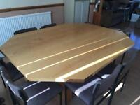 Vintage wooden Conference/Dining Room table with 8 chairs