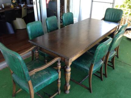 Dining Table African Wood Chairs Matching Sideboards