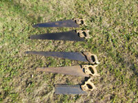 Five Antique Hand Saws - Could Make Excellent Wall Decorations