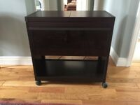 Phillips Hostess Trolley - brown including 3 integral serving dishes. Perfect condition