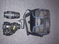 Nikon D3100+Sigma 70-300 apo dg macrolens+waterproof bag+accessories