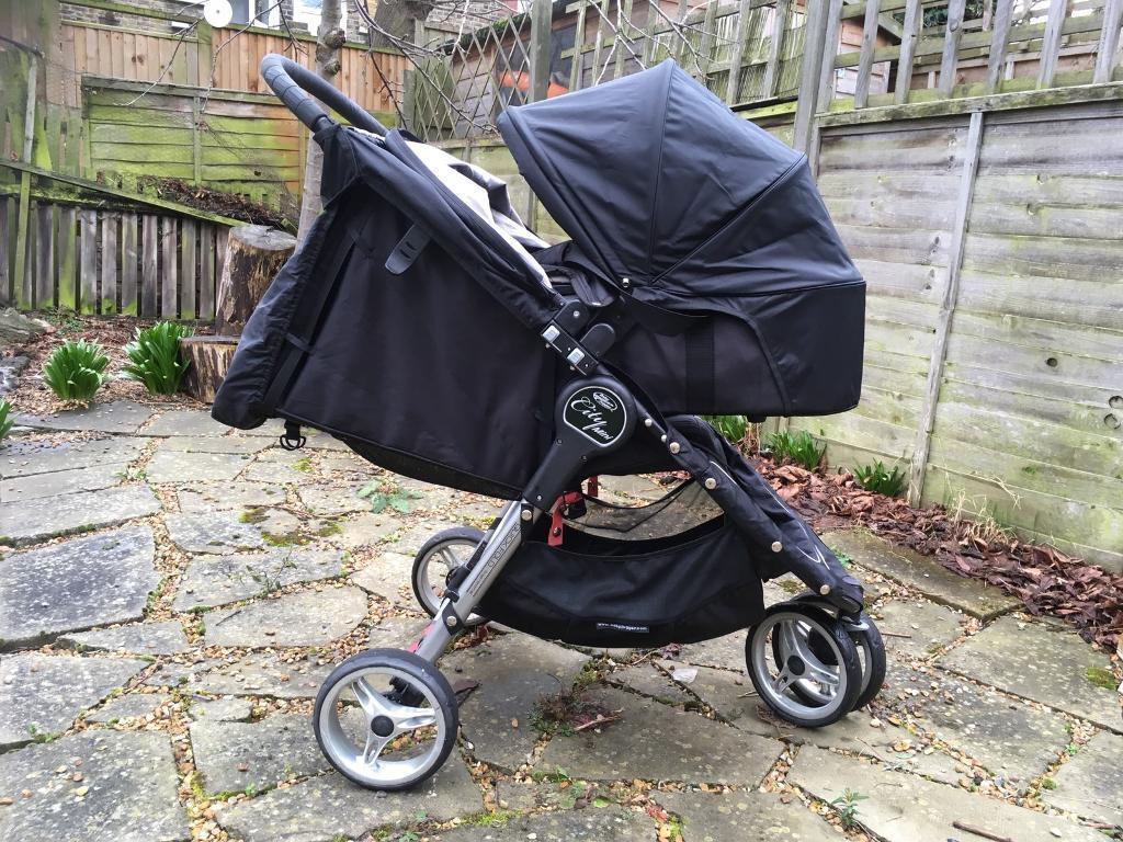 Black Baby Jogger City Mini Carrycot Glider Board In