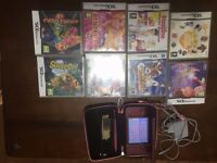 Nintendo Dsi XL wine red in good condition with many games