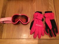 Ski goggles & gloves (adult)