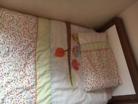 Mamas and papas : cot/ toddler bed and wardrobe with drawer.