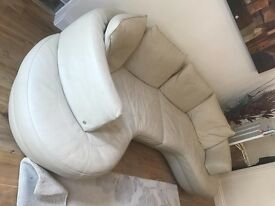 Natuzzi Leather Sofa and Chair (RRP £3000)