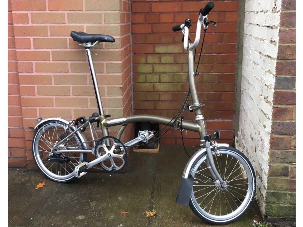 Brompton TITANIUM raw lacquer superlight folding bike new
