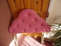 Single headboard pink (unused ) £1