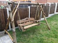 Solid Hand Made Wooden Garden Furniture Oak - Swing
