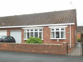NOW LET: SEMI-DETACHED BUNGALOW WITH CONSERVATORY, PRIVATE DRIVEWAY AND GARAGE