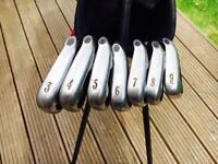 Excellent Callaway X18 Pro Series Irons 3-9 with Dynamic Gold Shafts