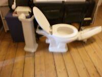 Victoria style wash-hand basin + pedestal+taps £45