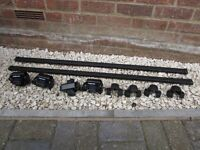 Car roof rack bars by Halfords to fit existing roof rails