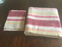 Striped double duvet cover ( cover & 2 pillow cases)
