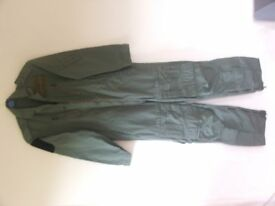 "Brand New, unused, RAF Flying suit, to fit person 5' 10"" tall."
