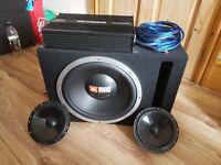 1000W JBL Sub & 2000W Competition Amp & 150W JBL Component Speakers