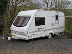 2 Berth Caravan, Elddis Broadwaywith motor mover. Very good condition, no damp, fully working