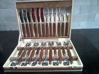 Boxed set of vintage Glosswood cutlery