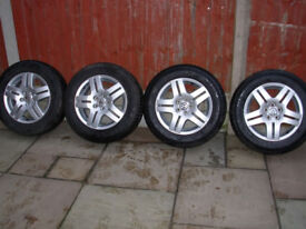 Vlokswagen Golf Genuine 15 Alloy Wheels With Tyres