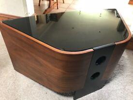 Beautiful Walnut Curved Techlink TV Stand