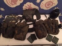 Old (95 pattern) army webbing, 2x magazine pouches, 2x water bottle pouches, belt, yolk plus extras