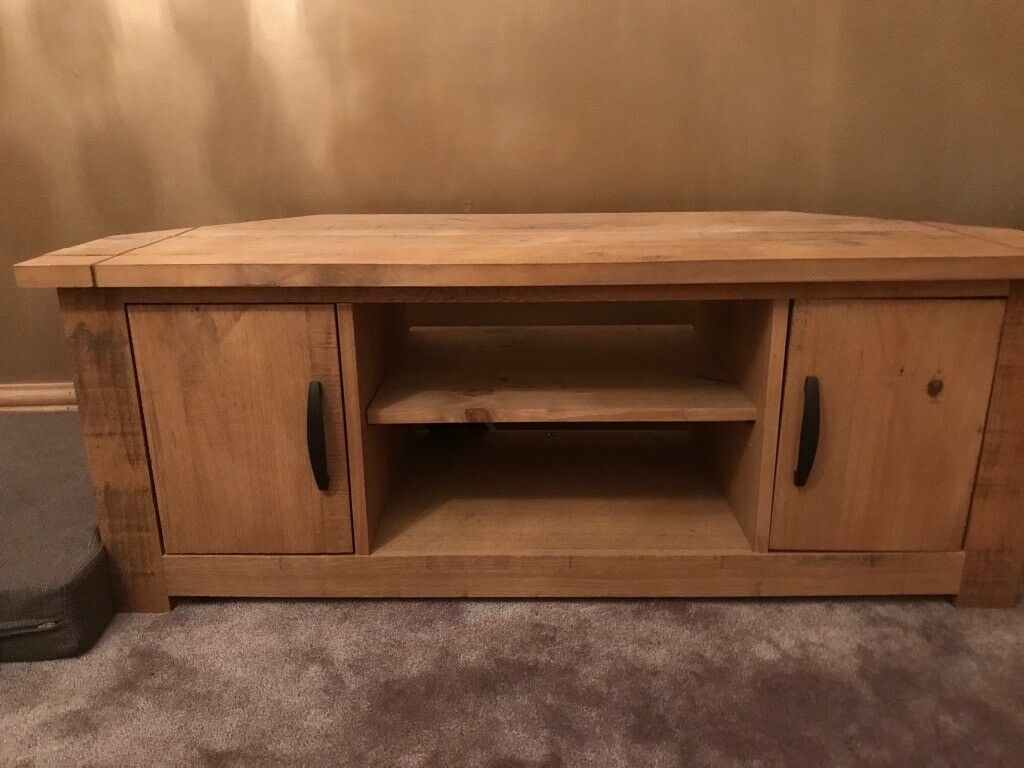 huge selection of 99bdd 0a53d Corner solid wood tv stand - dunelm | in Prestwich, Manchester | Gumtree