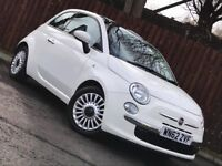 **LOW MILEAGE** FIAT 500 LOUNGE 1.2 £30 ROAD TAX LONG MOT SERVICE HISTORY**
