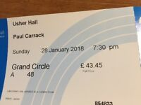 Paul Carrack, Usher Hall, 28 January - 2 tickets