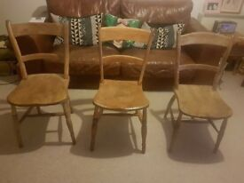 Vintage Victorian Dining Chairs x3