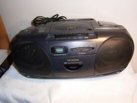 Hitachi Portable Stereo CD/Radio/Cassette. FREE