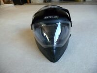 Motor cycle Helmet - Spada with visa attached. size small. V.G.C. Reduced to £30