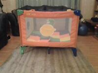 Graco playpen and carrying bag.