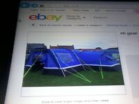 zenoba 6 man tent with porch for sale