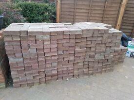 Block paving used