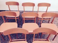 8 X 1970s Dining chairs