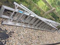 2 x 12 tread aluminium lightweight steps