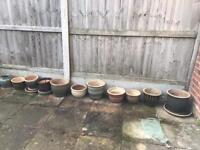 Garden Pots (approx 50 pots & saucer trays)