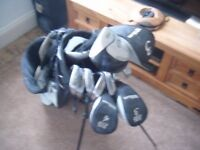Set Of Wilson Clubs, Golf Bag And Trolley