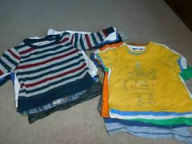 14 pieces boys T shirt short/long sleeve for 9-12 m