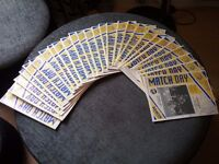 75 Mansfield Town Programmes
