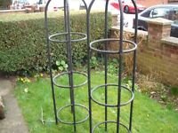 2x Large metal Plant Climbing Frames (both have rust problems but are useable)