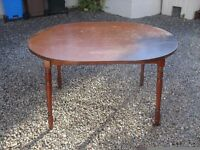 Large Solid Wooden Oval Table