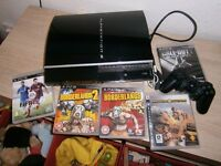 40g ps3 and games with all leads