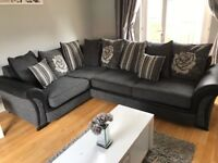 ** Grey Scatter Back Fabric Corner Couch Sofa! Cheap/Stunning **
